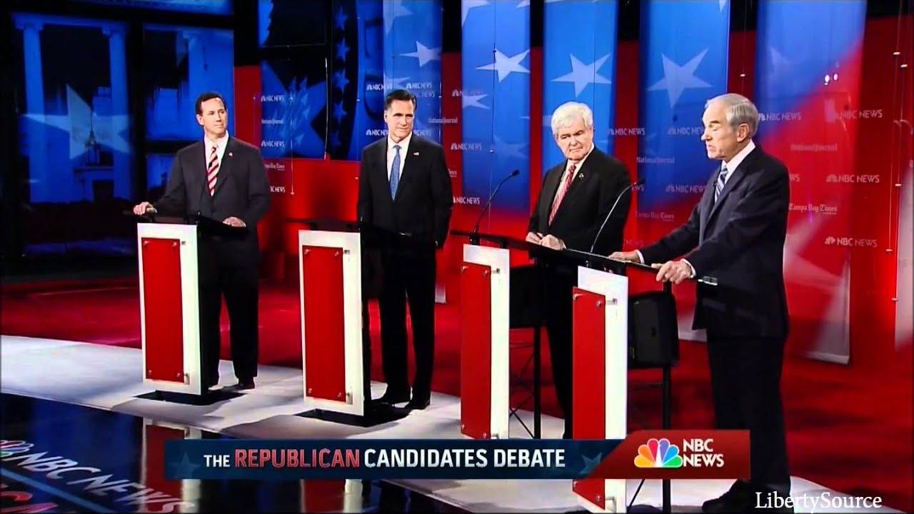 ron paul on a 3rd party run nbc republican debate 1 23 12 youtube