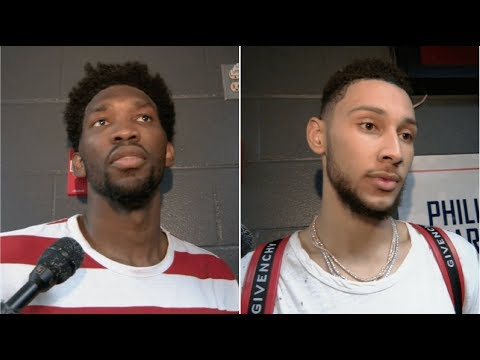 Joel Embiid and Ben Simmons talk 76ers win over Lakers | ESPN