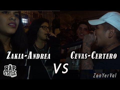 ZAKIA - ANDREA vs CEVAS - CERTERO // RAPSTYLE 08/11/17
