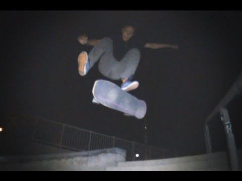 GIANT Skateboard at Night - Frankie Decker