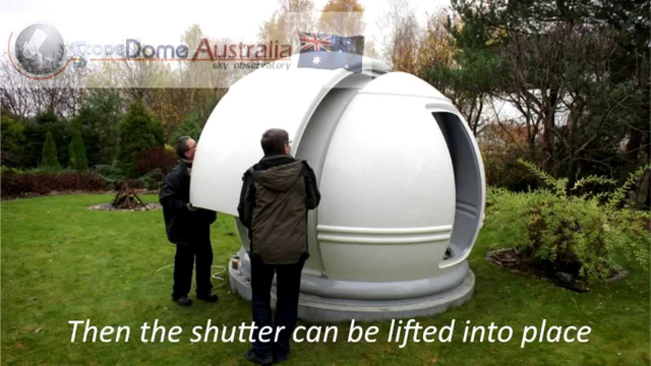 Dome Observatory Assembly 3m Scopedome Australia Youtube