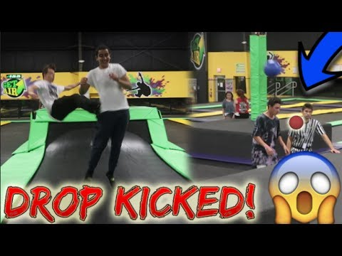 BREAKING ALL THE RULES AT TRAMPOLINE PARK // HIT A WORKER (KICKED OUT)
