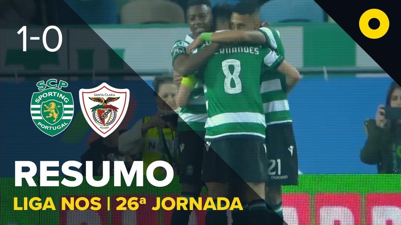 Sporting 1-0 Santa Clara - Resumo   SPORT TV
