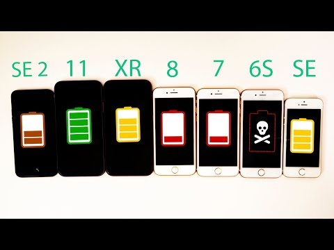 2020 IPhone SE Vs IPhone 11 Vs XR Vs 8 Vs 7 Vs 6S Vs SE Battery Life DRAIN TEST