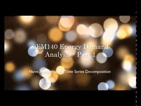 0EM140 Energy Demand Analysis