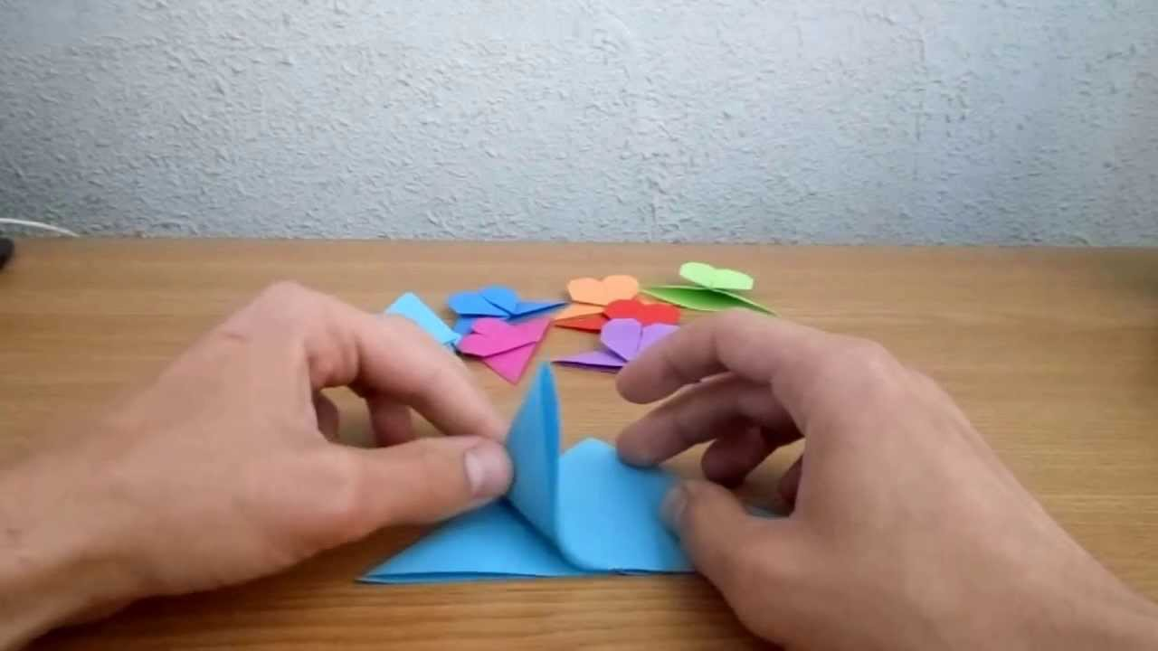 Origami Semn De Carte Inima Heart Bookmark Youtube Christmas Star Tavin39s