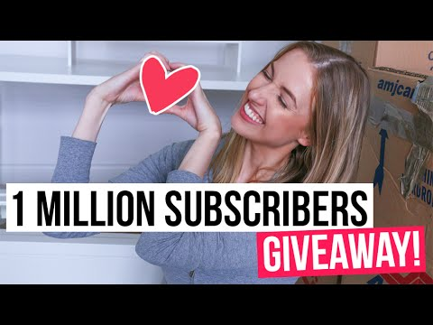 Rclbeauty101 1 million subscriber giveaway sweepstakes