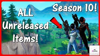 *NEW* ALL Unreleased Skins & Items! (Season 10 Battlepass, Pickaxes, Emotes & MORE) | Fortnite