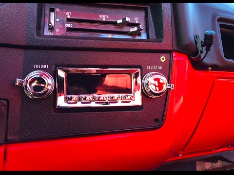 PART 3 CHEVY C10 RETROSOUND RADIO INSTALL | Vintage Look ...