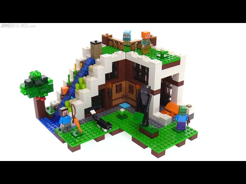 LEGO Minecraft Waterfall Base review! 21134