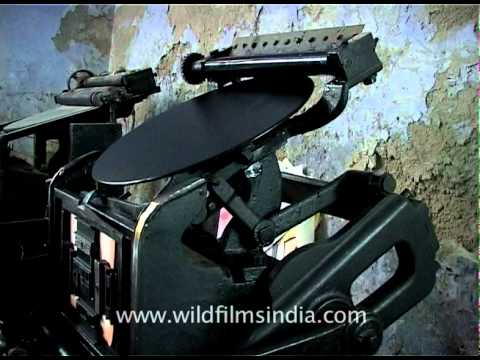 Old printing press that is still used in India
