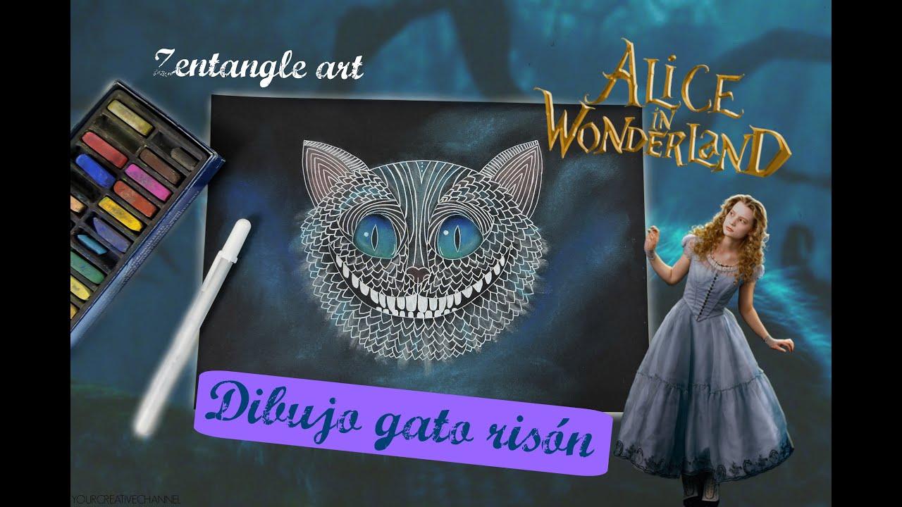 Excepcional Dibujos De Gato De Cheshire Para Colorear Componente ...