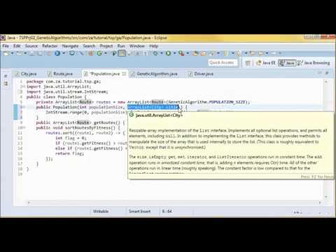 Traveling Salesman Problem (TSP) By Genetic Algorithms - JAVA 8 Tutorial