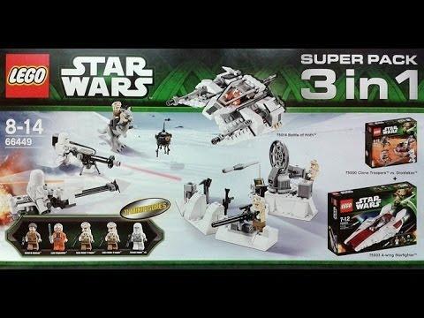 Lego Star Wars 66449 3 in 1 set (75014, 75003, & 75000) - YouTube