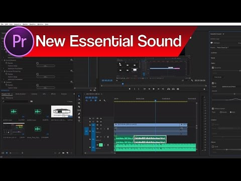 Premiere Pro New Essential Sound – How to Match Audio Levels, Mix Music and Dialogue + More!