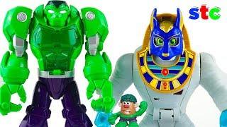 Hulk Mega Armadura vs Giant Mummy King Imaginext