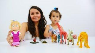 Видео для детей: Маша и Медведь, ЖИВОТНЫЕ для детей. Игры для детей и зоопарк(Развивающее видео для детей с игрушками! Животные для детей и веселые игры для детей с любимыми игрушками..., 2016-06-27T10:50:28.000Z)