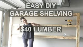 How to Build Fast and Easy Garage Shelving | Under $40 Click the red SUBSCRIBE button to see more videos just like this - I make