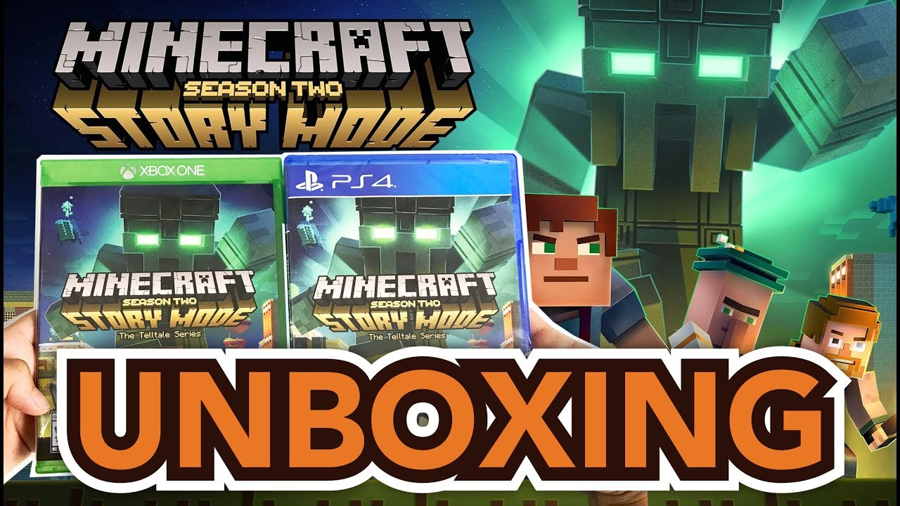Minecraft Story Mode Season 2 Ps4 Xbox One Unboxing Youtube