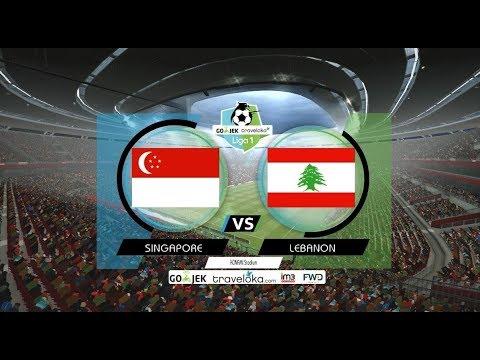 Pertandingan Persahabatan | Singapura Vs Lebanon | PES 2017