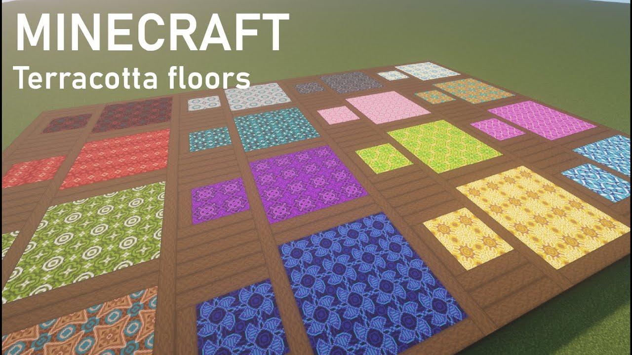 💥MINECRAFT How to use Basic Terracotta Floors Tutorial