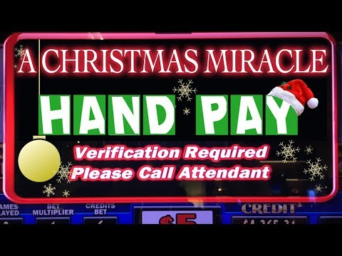 🎄💰 A Christmas MIRACLE Hand Pay! ⚡⛄❄✦ Slot Machine Pokies w Brian Christopher
