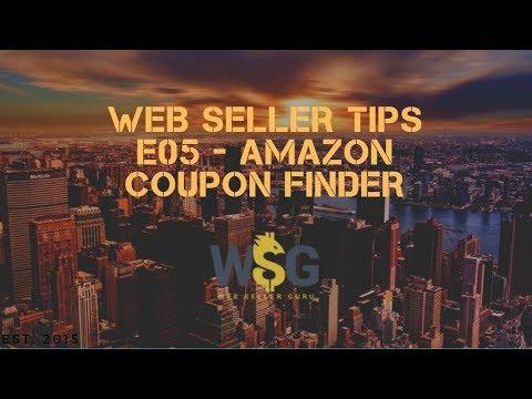 Web Seller Tips e04 – Amazon coupon finder