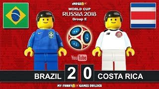 Brazil vs Costa Rica 2-0 • World Cup 2018 (22/06/2018) All Goals Highlights Lego Football Brasil