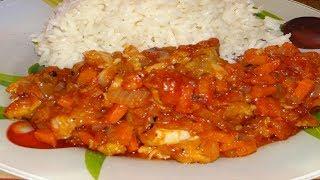 Готовлю ТРЕСКУ так.Треска в духовке с овощами! Как Приготовить Рыбу. Рыба в томатном соусе. Рецепт.