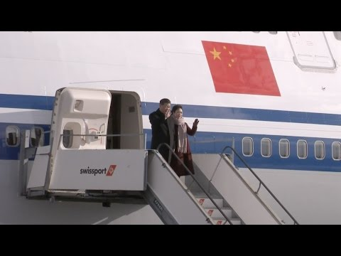 Chinese President Arrives in Switzerland for State Visit, Davos Forum