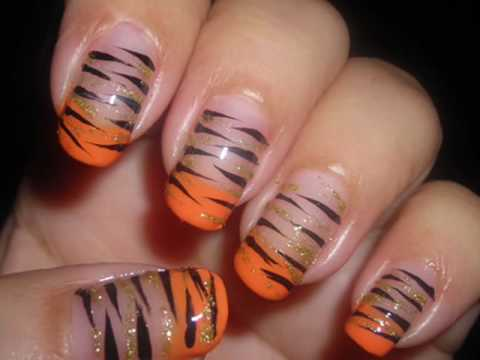Nail art easy tiger animal print series youtube prinsesfo Image collections