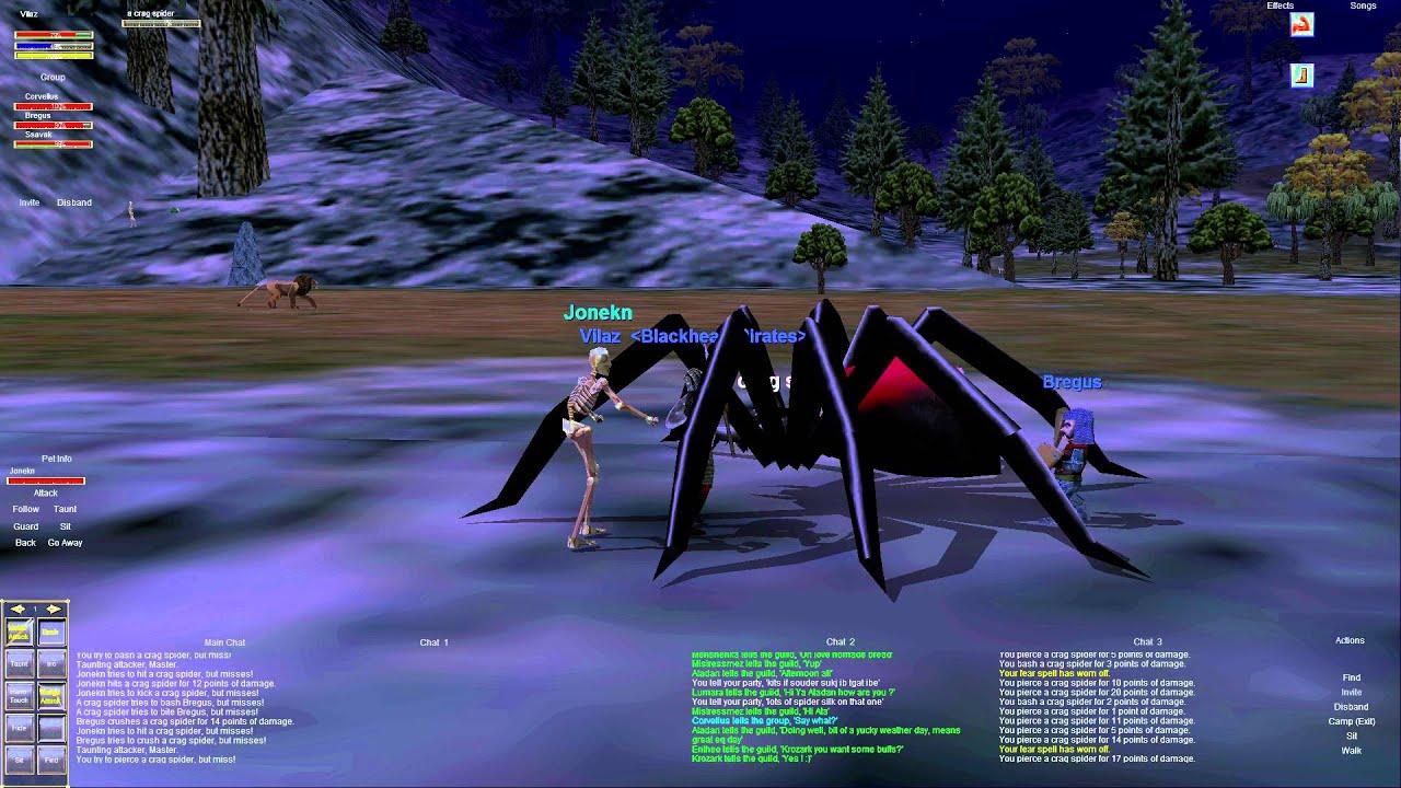 Everquest old school : Part 37 - Craig Spiders - Eastern Karana - Dark Elf  Shadow Knight