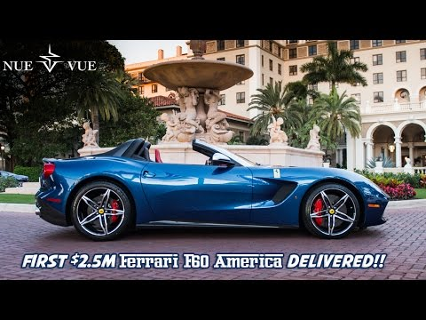 First 25m Ferrari F60 America Delivered Many Supercars At