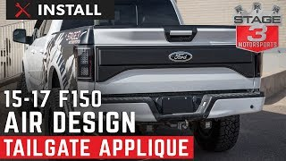 2015-2017 F150 Air Design Raptor Style Tailgate Applique Install