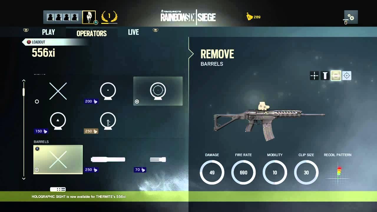 Rainbow 6 Siege BETA Customizing Weapons - YouTube