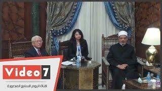 رئيس سنغافورة بمشيخة الأزهر للقاء الإمام الأكبر