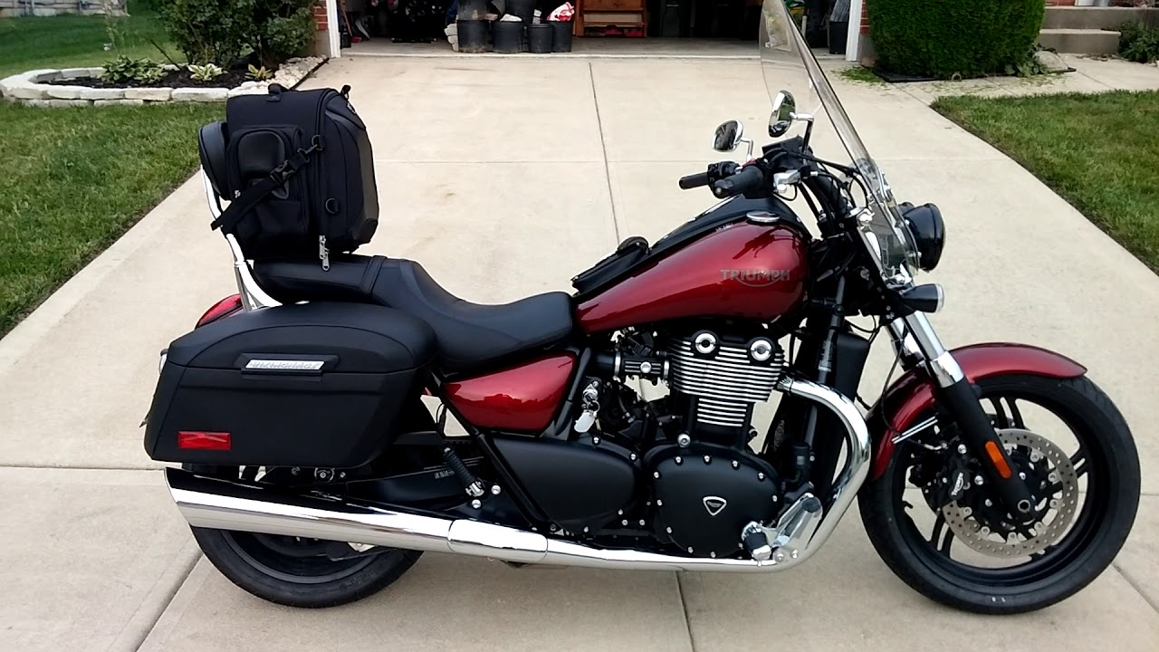 2017 Triumph Thunderbird Storm Motorcycle Hard Saddlebags Review Vikingbags