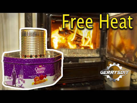 Homemade Tin Can Waste Oil burning Heater .. AWESOME OUTPUT
