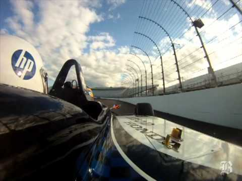 Take a ride in an Indy car