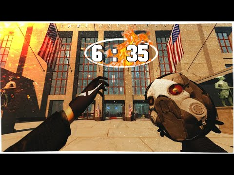 FIRST WORLD BANK  - SPEEDRUN 6:35 | PAYDAY 2 | Death Sentence + Difficulty [Team AI - ON] c:
