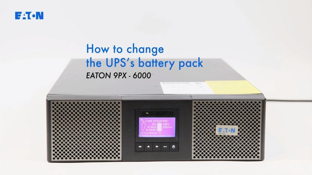 How to change the UPS's battery pack - Eaton 9PX 6000