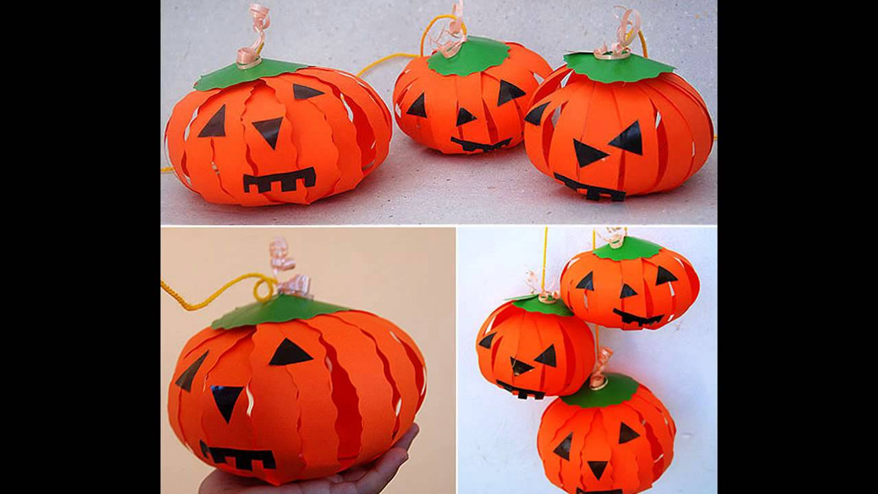 Pumpkin paper crafts ideas - YouTube