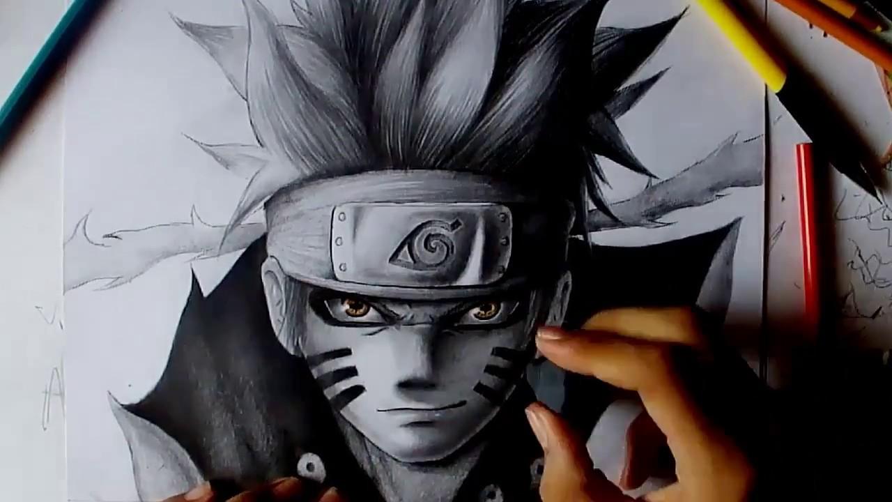 Naruto Modo Sabio De Los 6 Caminos Para Colorear: Como Dibujar A Naruto Modo Sennin Kyubi