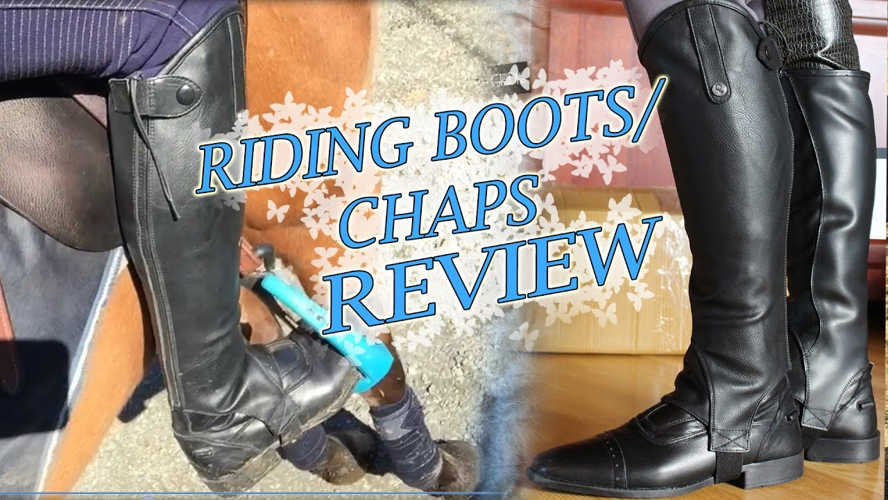 horse riding boots review shoes chaps from qhp youtube