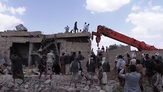 Air raids on Yemen capital kill dozens