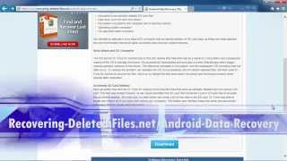 Android Data Recovery the EASY WAY