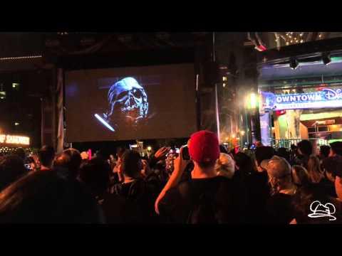 Live Star Wars Force Awakens Trailer Viewing at Downtown Disney - 4K