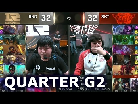 SKT vs RNG - Game 2 Quarter Finals Worlds 2016 | LoL S6 World Championship SK Telecom T1 vs RNG G2