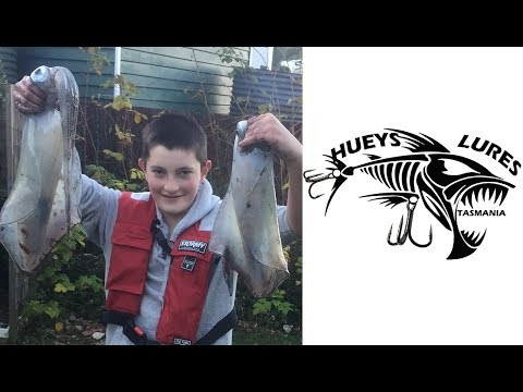 Squid Fishing With HUEYS LURES