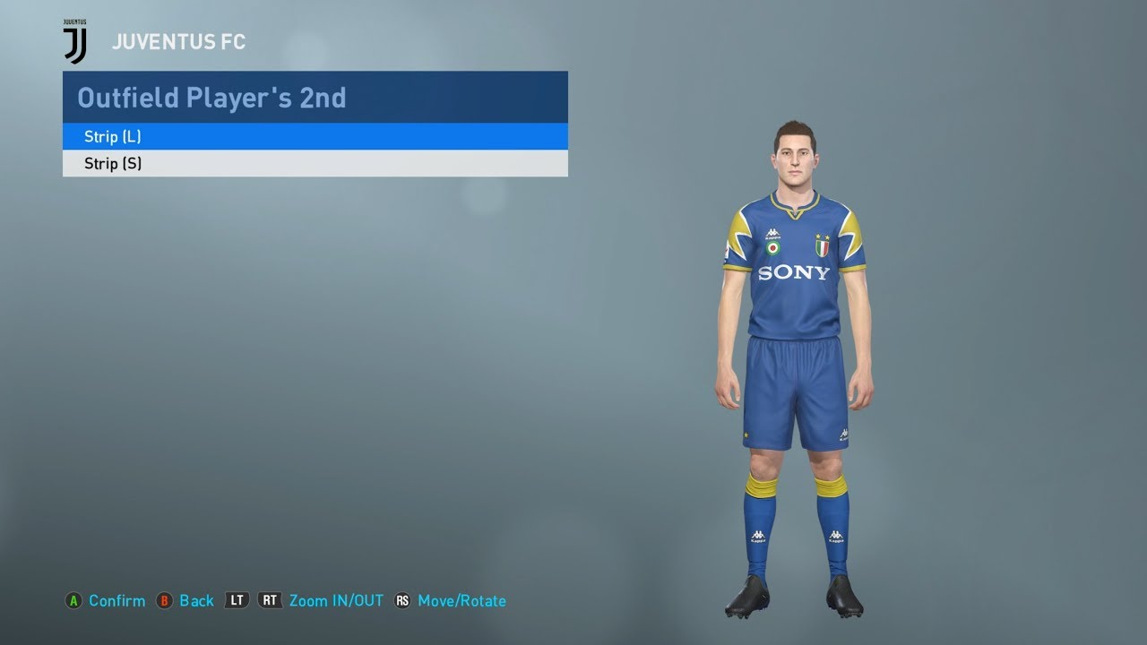 huge sale 2a653 40ff6 PES 2019 classic Juventus kits (PC, PS4) Sony 96, Tamoil, Jeep and more